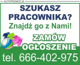 Reklama - ogłoszenie o pracę