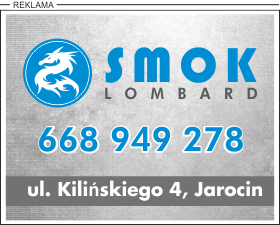 Reklama lombardu w Jarocinie